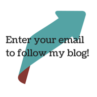 Enter your email to follow my blog!