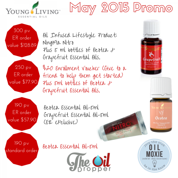 Young Living May 2015 Promotion The Oil Dropper
